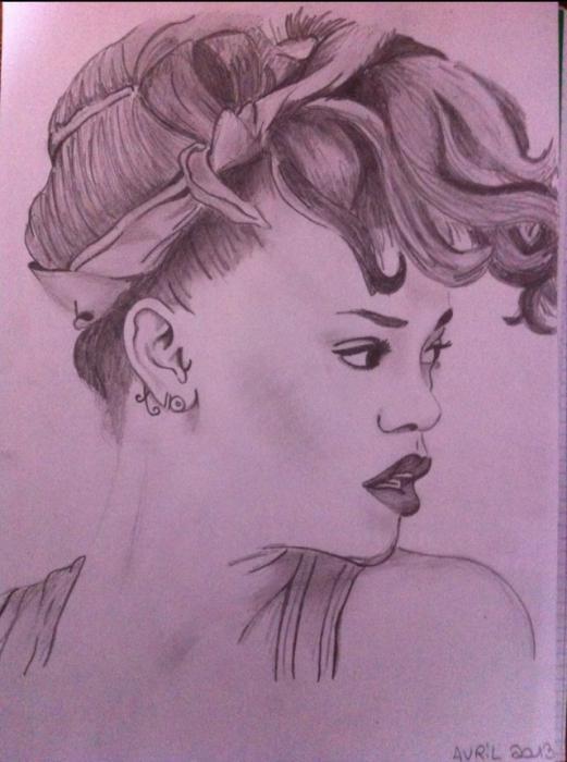 Rihanna by Jo-drawing